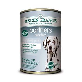 Влажный корм Arden Grange для собак, с белой рыбой и картофелем, 0,395 кг
