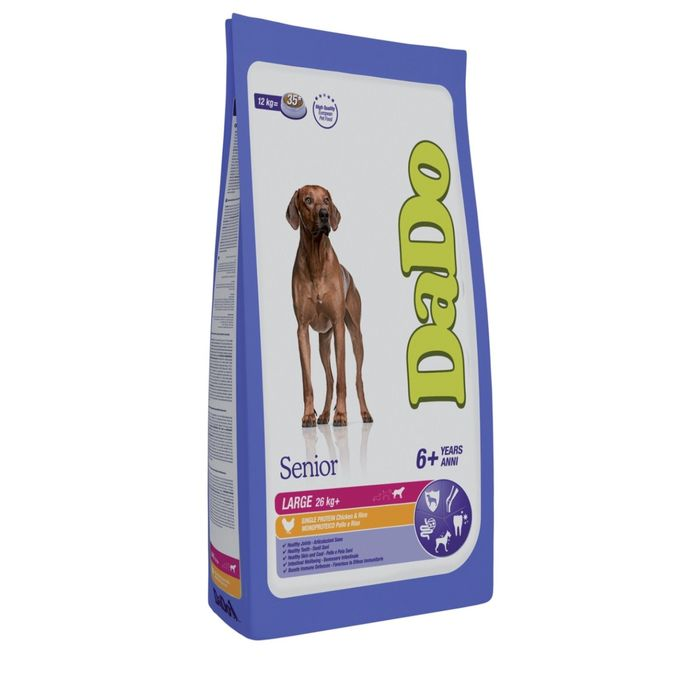 Сухой корм DaDo для стареющих собак крупных пород, курица/рис, 3 кг.