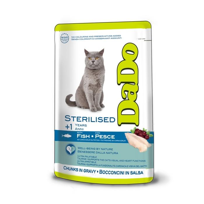 Влажный корм DaDo для стерилизованных кошек, с рыбой, 85 г