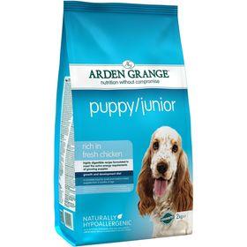 Сухой корм Arden Grange для щенков и молодых собак, 2 кг.