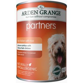 Влажный корм Arden Grange для собак, с курицей и рисом, 0,395 кг