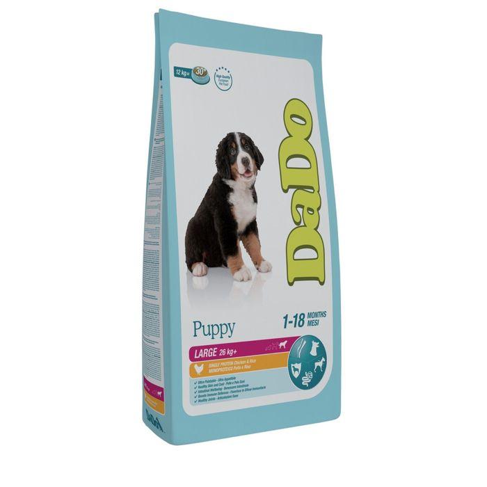 Сухой корм DaDo для щенков крупных пород, с курицей и рисом, 12 кг.