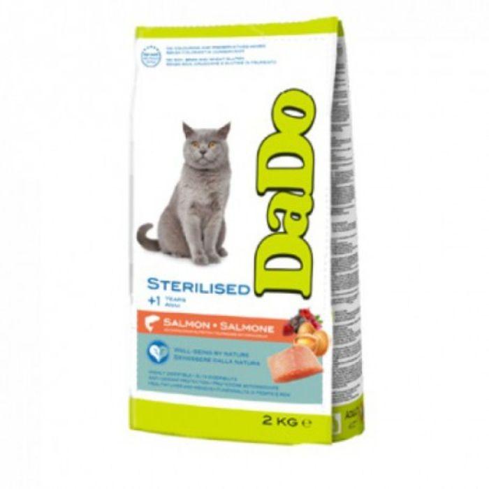 Сухой корм DaDo для стерилизованных кошек, с лососем, 2 кг