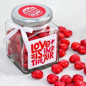 Леденцы «Дневной запас любви», в стеклянной банке, со вкусом земляники, 130 гр.