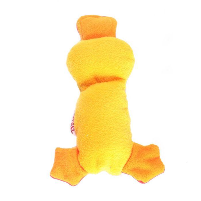 Игрушка для собак OSSO «Утка» с неубиваемой пищалкой, 20 см