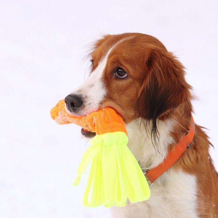Игрушка для собак OSSO «Морковь» с неубиваемой пищалкой, 20 см