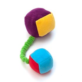 Игрушка для собак OSSO «Кубики» на резинке с пищалками, 20 см, флис