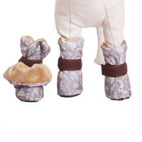 Ботиночки на меху OSSO, размер M (5,5 х 4,5 х 8 см), микс цветов