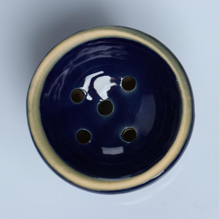 Чаша для кальяна керамическая «Классика. Дутый пояс», 6.5 × 7 см, фиолетовая