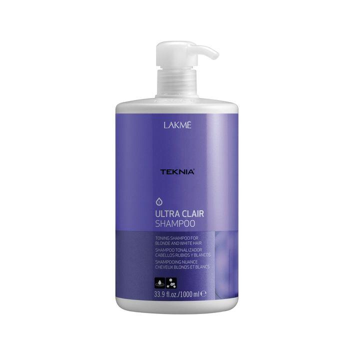 Тонирующий шампунь для обесцвеченных, натуральных светлых и седых волос Lakme Teknia Ultra Clair Refresh, 1 л
