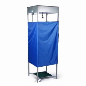 Душ дачный, 80 × 80 × 250 см, тент, бак антикоррозийный, 128 л, с ЭВН Ош