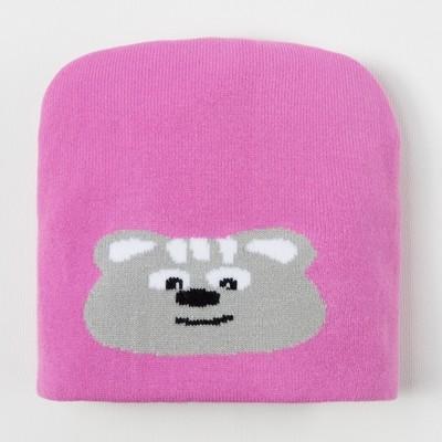 Шапка для девочки, размер 48, цвет розовый