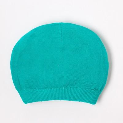Шапка для мальчика, размер 52, цвет изумрудный H-0209