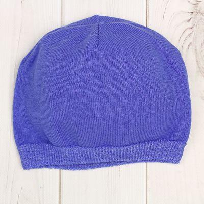 Шапка для мальчика, размер 52, цвет фиолетовый H-0206