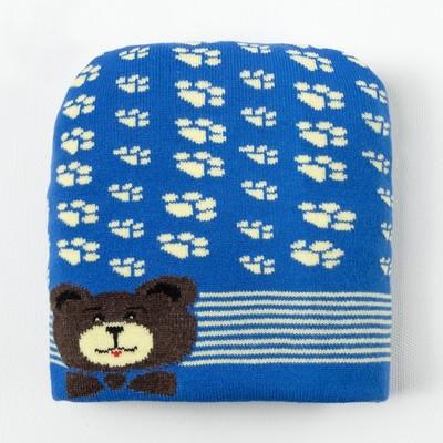 Шапка для мальчика, размер 46, цвет синий