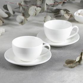 Набор чайный на 2 персоны, чашка 250 мл, в цветной коробке