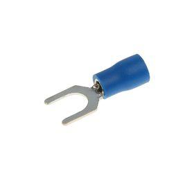 Наконечник вилочный Uniel, изолированный, сечение 1.5 - 2.5 мм2, под винт М6, цвет синий Ош