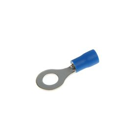 Наконечник кольцевой Uniel, изолированный, сечение 1.5 - 2.5 мм2, под винт М6, цвет синий Ош