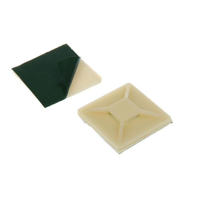 Площадка самоклеящаяся Uniel, 40 мм, под хомуты, цвет белый