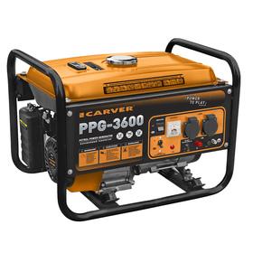Генератор CARVER PPG - 3600, бенз., 2.5/2.8 кВт, 220 В, бак 15 л, обмотка медь