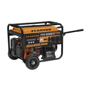 Генератор CARVER PPG- 8000E-3, бензиновый, 6/6.5 кВт, 220/380 В, 25 л, электростарт