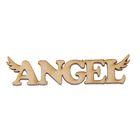 """Декоративное слово для творчества из фанеры """"Angel"""" 1,5х7х0,4см (ДЭК-037)"""