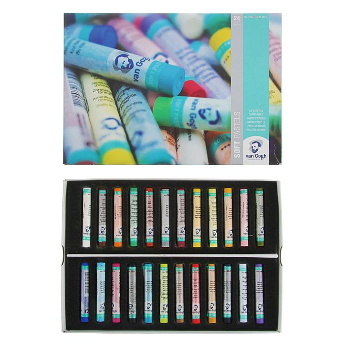 Пастель сухая Soft Royal Talens Van Gogh 24 цвета, картонная упаковка - фото 1706596