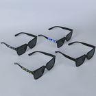 Очки солнцезащитные Wayfarer, оправа чёрная с прямоугольником, линзы чёрные