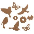 """Чипборд из гофрокартона """"Птицы"""", 11 х 16 см"""