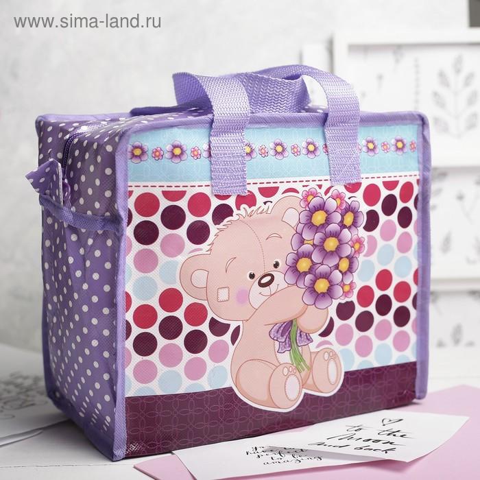 Сумка детская на молнии, 1 отдел, цвет фиолетовый