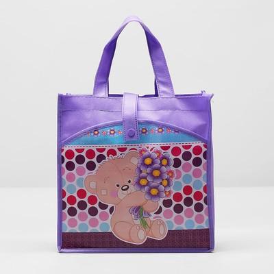 Bag baby button, 1 division, outside pocket, color purple
