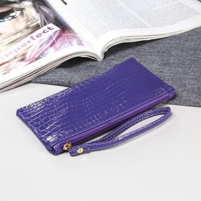 "Purse female zipper ""Shine"", with handle, 1 division, color lilac"