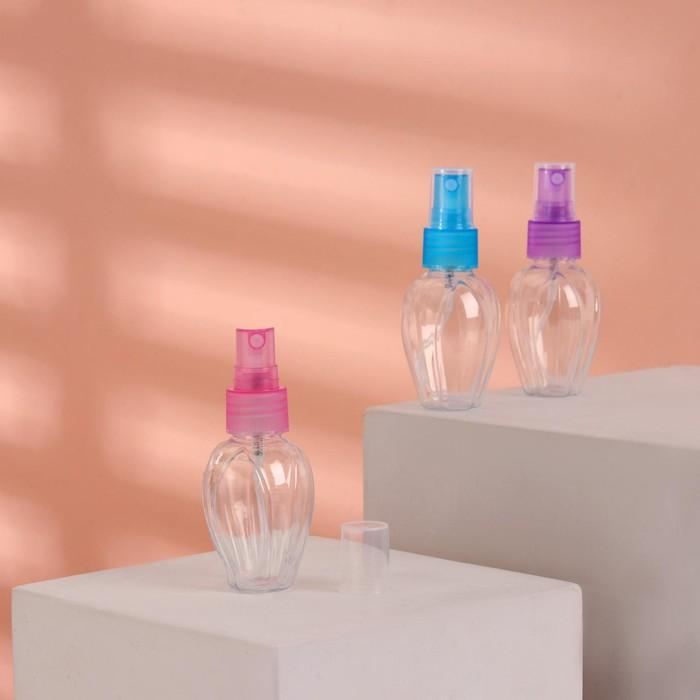 Бутылочка для хранения с распылителем, 45мл, цвет МИКС