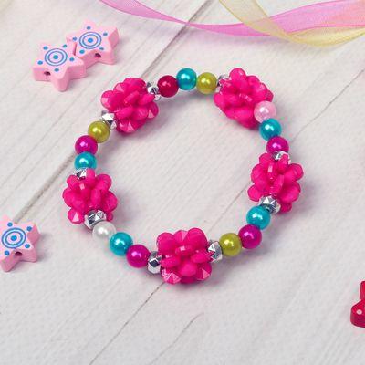 """Bracelet child """"Vibracula"""" peonies, MIX color"""