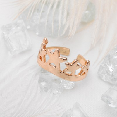 """Кольцо """"Корона"""", цвет золото, размер 16"""