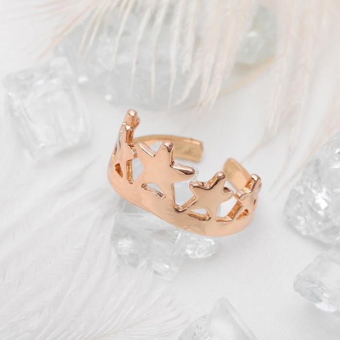 """Кольцо """"Корона"""", цвет золото, размер 18"""