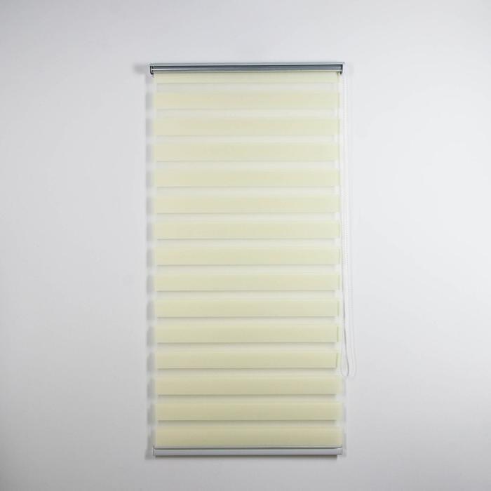 Штора рулонная «День-ночь. Волна», 60×180 см (с учётом креплений 3,5 см), цвет бежевый - фото 1706741