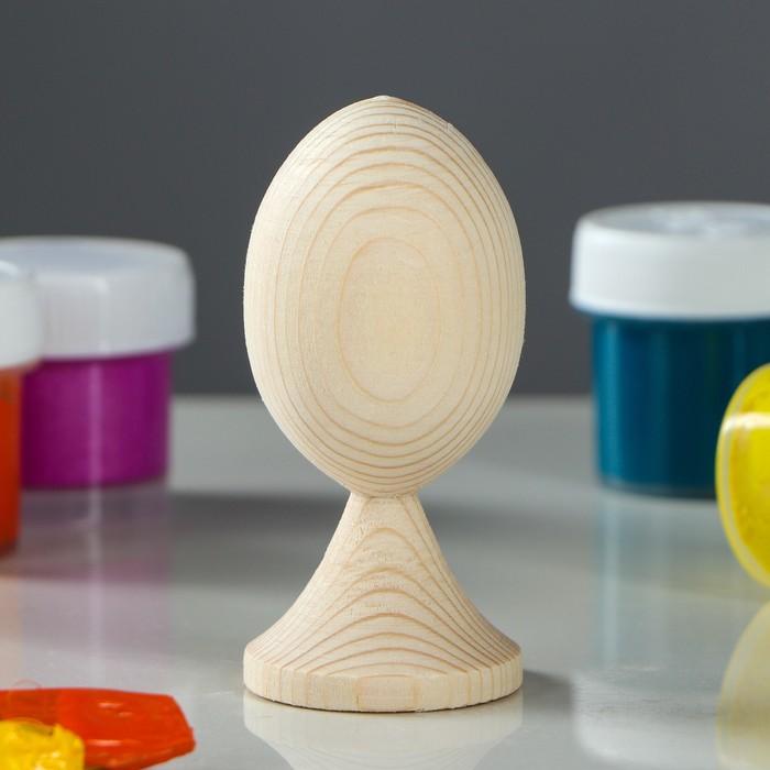 Яйцо на подставке деревянное, декупаж, 8,5-7 х 4-3 см