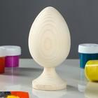 Яйцо на подставке деревянное, декупаж, 11-10 х 6-5,5 см