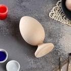 Яйцо на подставке деревянное, декупаж, 12,5-11 х 7-6,5 см