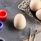 Яйцо деревянное, декупаж, 6х4,5 см