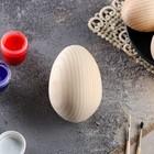 Яйцо деревянное, декупаж, 9х7 см