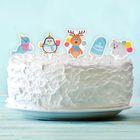 """Топперы для сладостей """"С Днём Рождения"""", зверята, набор 10 шт."""