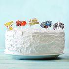 """Топперы для сладостей """"С Днём Рождения"""", тачки, набор 10 шт."""