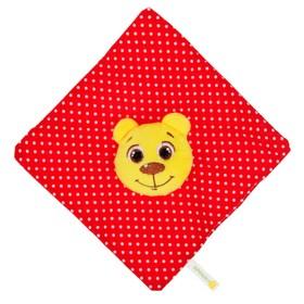 Погремушка-платочек «Мишка», мягкая, развивающая