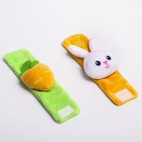 Развивающий браслетик-погремушка для малыша «Зайка», (набор 2шт)