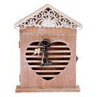 """Ключница дерево 6 крючков """"Ключи от сердца"""" 30,5х22,5х6 см"""