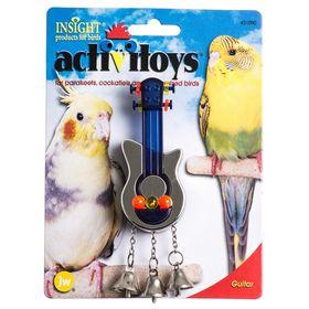 Игрушка для птиц J.W. - Гитара, пластик, микс
