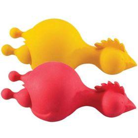 Игрушка для собак J.W. - Курица с пищалкой, каучук, микс