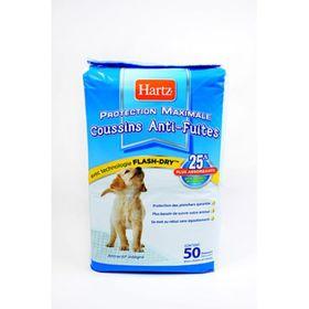 Пеленки впитывающие Hartz для щенков и взрослых собак, 56х56, 6 шт